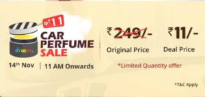 Droom Flash Sale Car Perfume