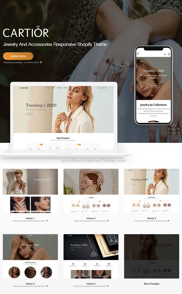 Jewelry And Accessories Responsive Shopify Theme