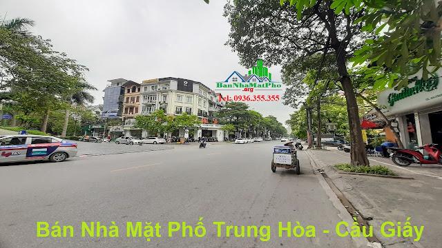 Bán nhà mặt phố Trung Hòa