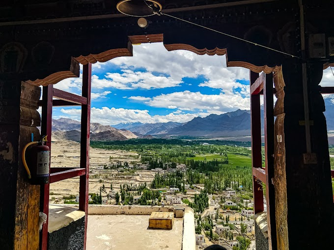 Indus valley from THIKSAY monastery
