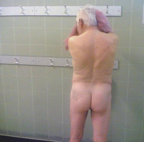Aside! old men locker room something is