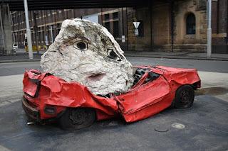 Still Life with Stone & Car by Jimmie Durham | Sydney Public Art