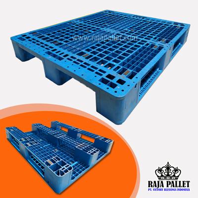 Pallet Plastik Bekas Ukuran Standar 1200 x 1000 x 160 mm Bisa Racking