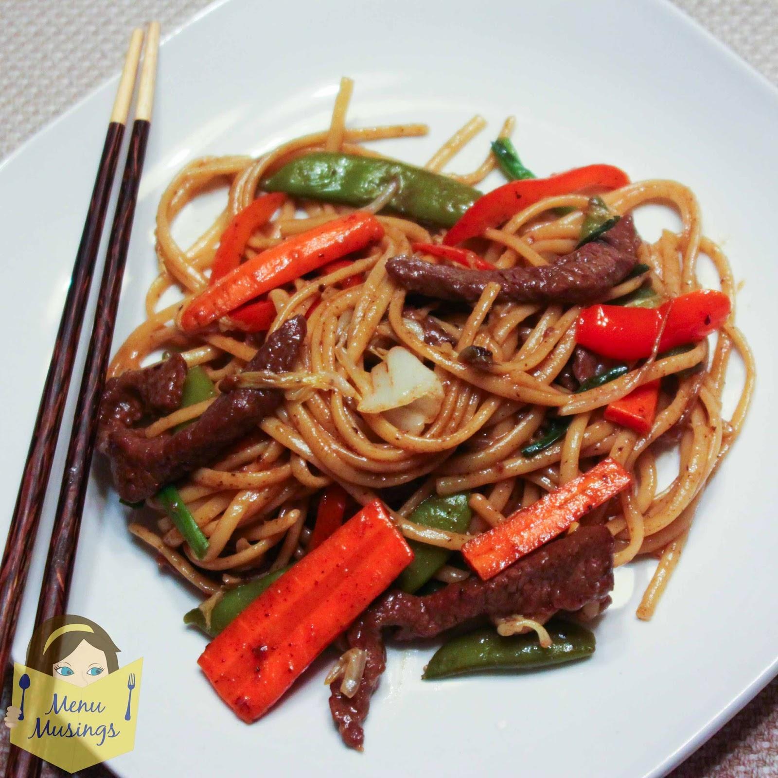 Easy Beef Lo Mein @ menumusings.com