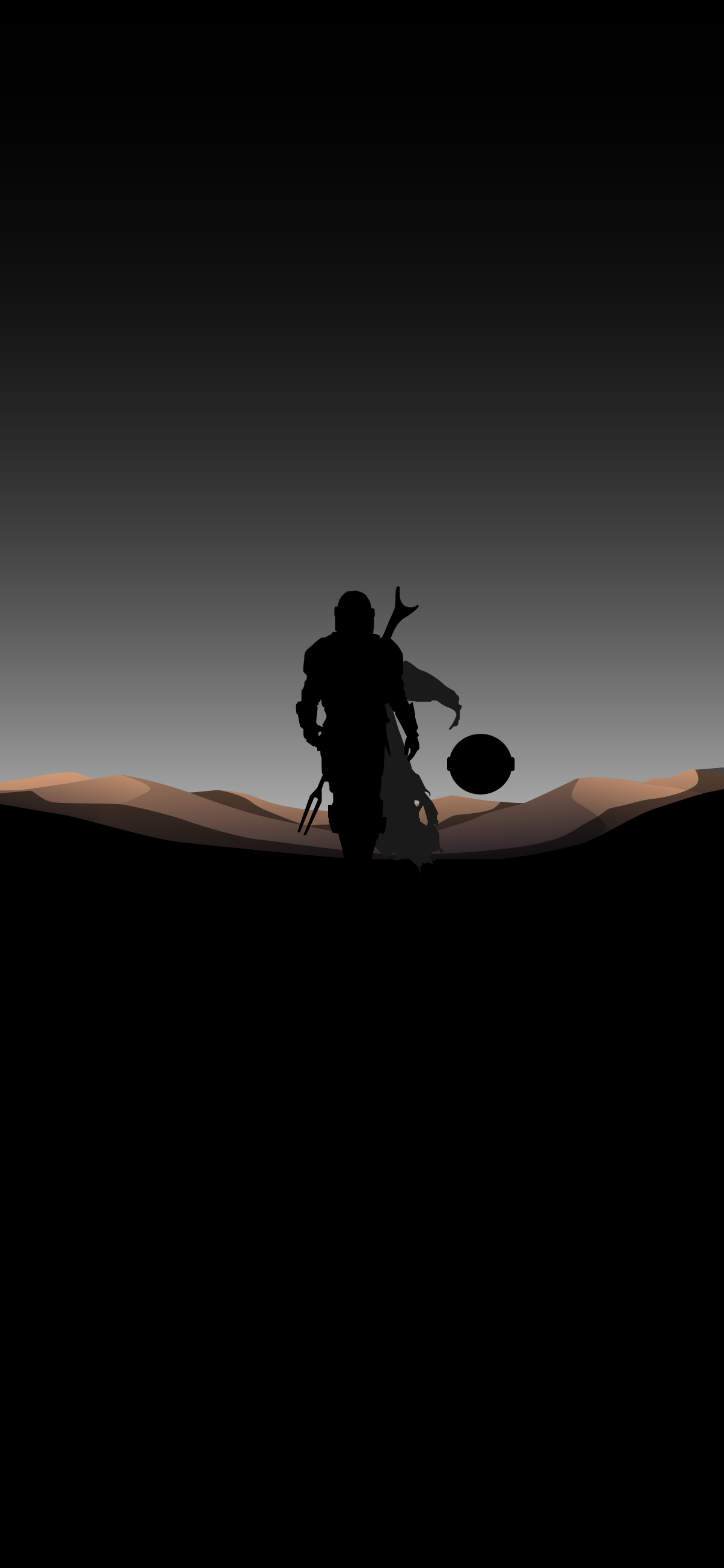 cool amoled wallpaper of the mandalorian and baby yoda the child