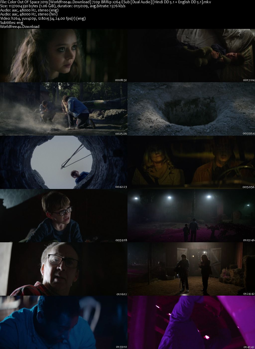 Color Out Of Space 2019 BRRip 720p Dual Audio