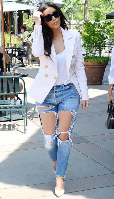 Kim Kardashian destroyed jeans