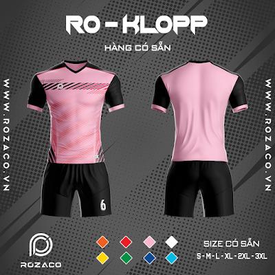 Áo Không Logo Rozaco RO-KLOPP Màu Hồng