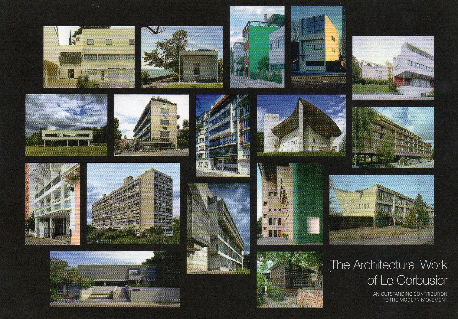 Unesco Postcards Collection By Dannyozzy The Architectural Work Of Le Corbusier An Outstanding Contribution To The Modern Movement