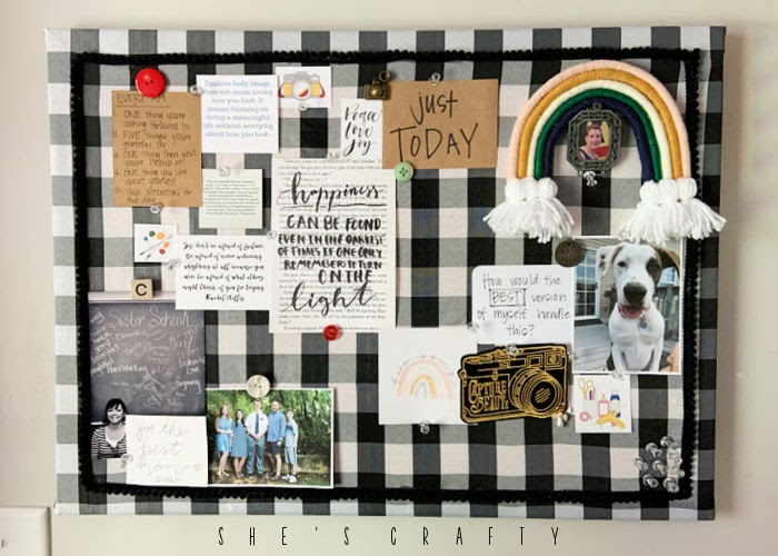 How to make a Vision Board and why you need one  -  buffalo check cork board