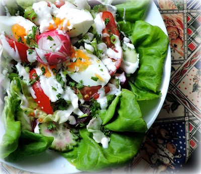 Buttermilk Dressed Rose Salad Bowl