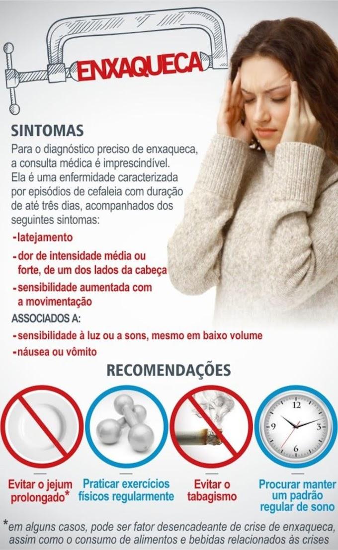Sintomas da enxaqueca - Saiba quais são os principais sintomas da enxaqueca