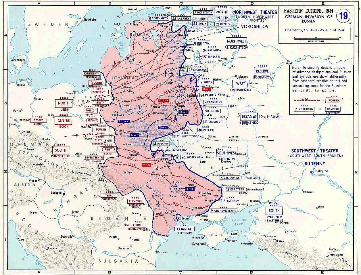 an overview of the operation barbarossa during the wwii invasion of russia Attack on russia in calling off operation sea  the invasion plan for russia was named operation barbarossa  during the day airplanes continuously dropped.