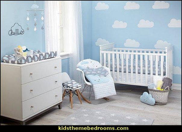 clouds crib bedding raindrops crib bedding weather themed nursery