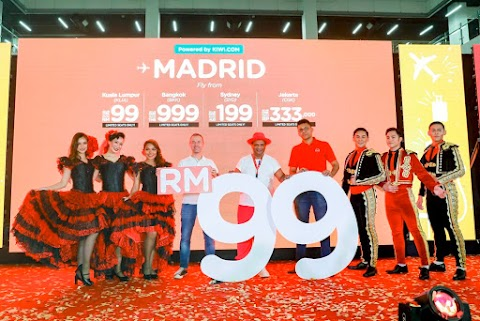 Budget Flight AirAsia to Madrid
