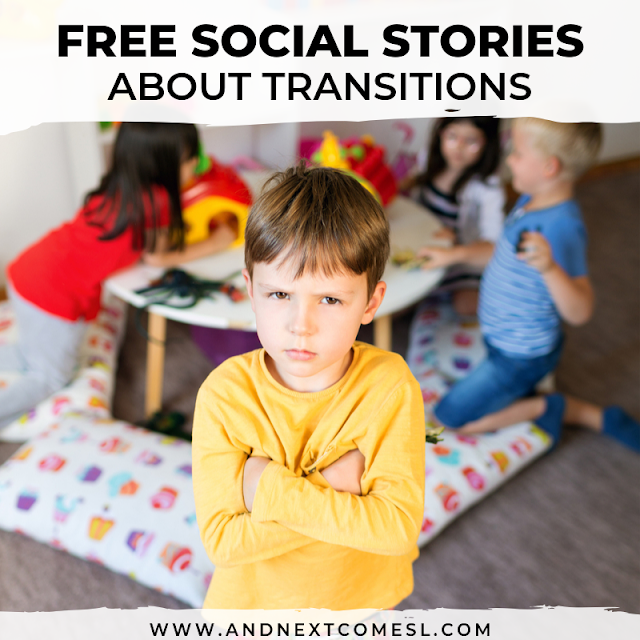 Need a transition social story? Check out these free social stories for transitions
