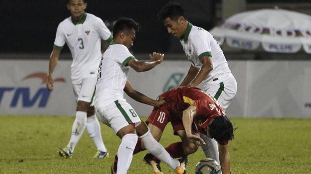 SEA Games : 10 Pemain Indonesia Tahan Imbang Vietnam 0-0