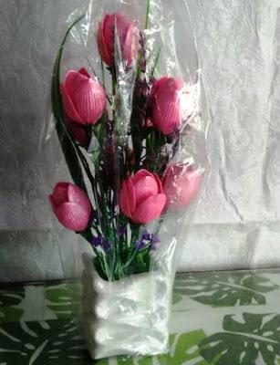 Bunga Akrilik Tulip dan Krisan-Mempercantik Dekorasi Ruang