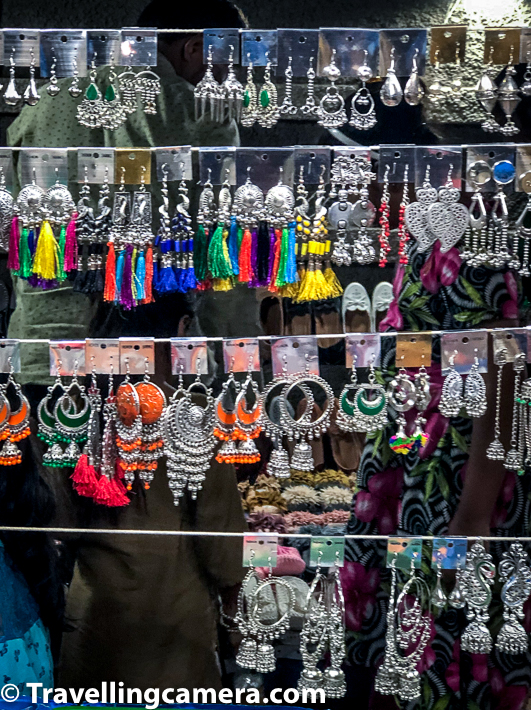 Along with lot of shopping for dresses, silver jewellery is very popular during Garba days. There are lot of stalls setup outside these Garba grounds as well as markets of Vadodara.     Vadodara is a brilliant place to visit during Navratris and witness it's magical evenings/nights during Gabra celebrations.