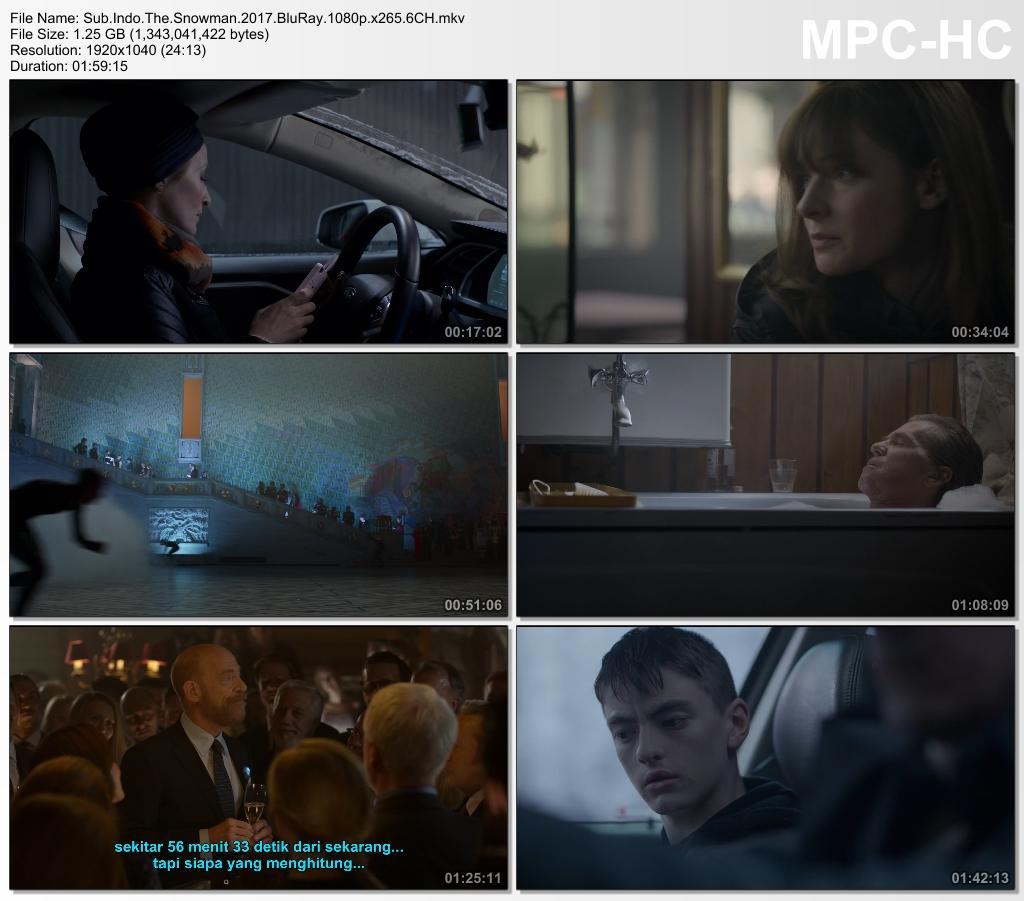 Screenshots Download Film Gratis The Snowman (2017) BluRay 1080p X265 HEVC 6CH Subtitle Indonesia MKV Nonton Film Gratis Free Full Movie Streaming