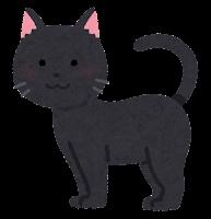 猫の模様のイラスト(黒)