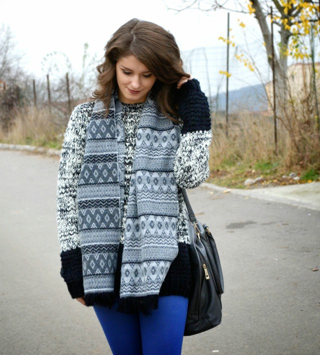 chunky knit sweater outfit