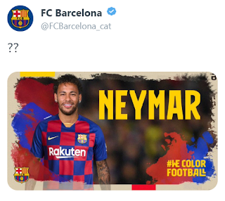 Barca twitter hacked as hackers claim they saw messages about Neymar's transfer
