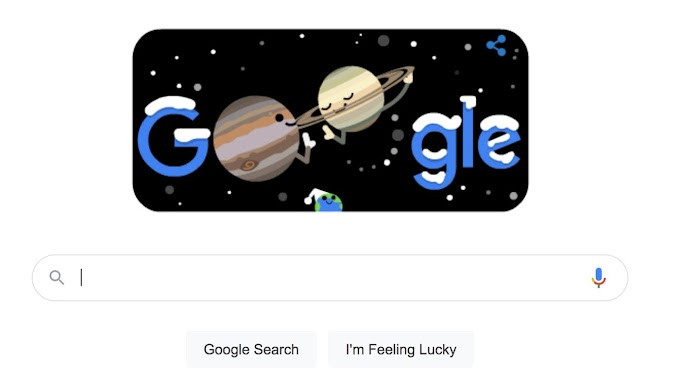 Google Doodle celebrates Winter Solstice and Great Conjunction
