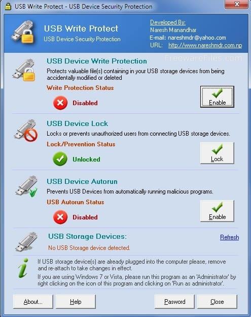 برنامج USB Write Protect حماية لملفاتك الموجودة على USB