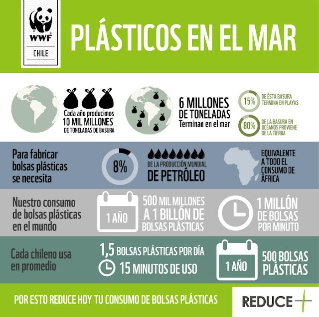 consumo plásticos mar