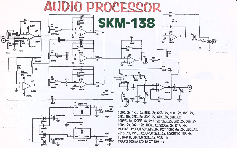 pcb audio processor kumpulan skema t audio