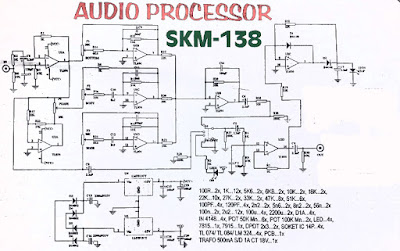 Audio Processor Circuit using IC TL074