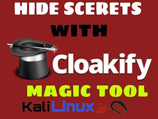 cloakify hide sensitive data in Kali Linux