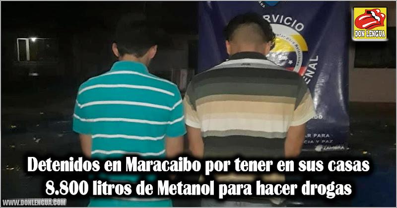 Detenidos en Maracaibo por tener en sus casas 8.800 litros de Metanol para hacer drogas