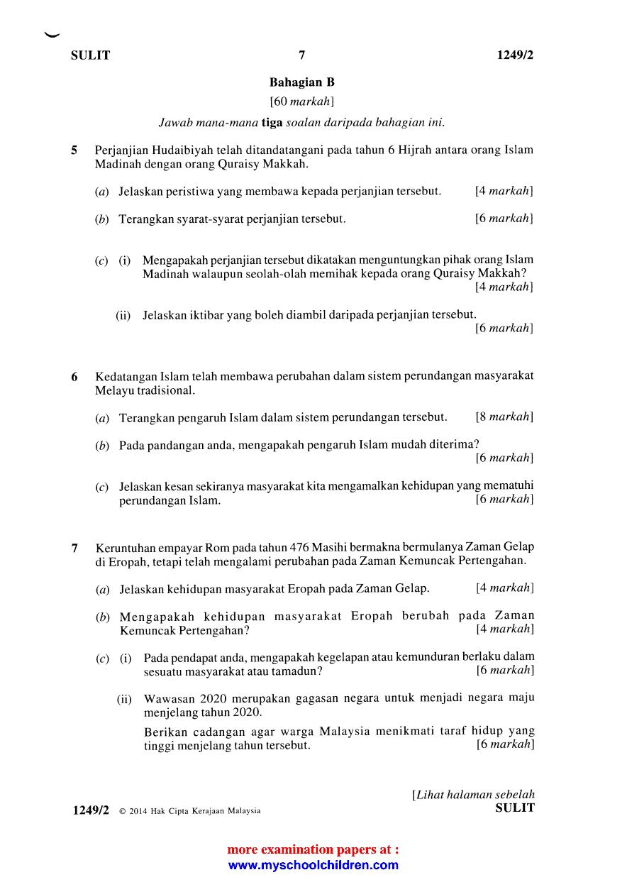 Contoh Soalan Spm Ulangan 2017 Soalan Bi