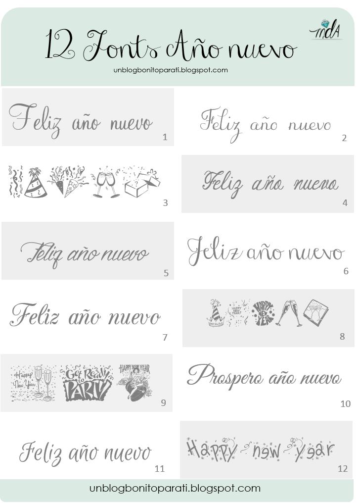 Tipos De Letras Ano Nuevo Para Hacer Cartelitos Y Etiquetas Mi