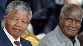 Nelson Mandela of South Africa and Kenneth Kaunda