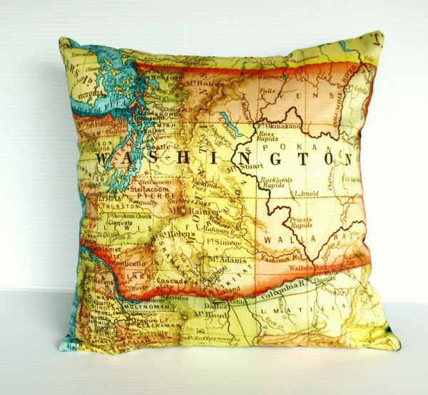 Creative Design-Map on Cushions by My Bearded Pigeon picture
