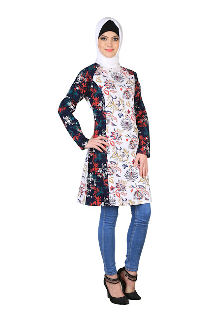 52ae6892236e0 Dark Yoke Tunic   tunic designs by top designers   designer ladies tunic  tops   designs for tunics   designer tunic tops for women