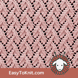 Eyelet Lace 82: Grapevine | Easy to knit #knittingstitches #knittingpattern