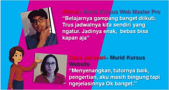 Kursus Website, Internet Marketing, Desain Grafis Jakarta Depok