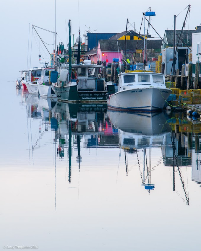 Portland, Maine USA May 2020 photo by Corey Templeton. A calm and cool morning on Widgery Wharf in the Old Port.