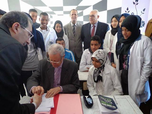 السيد وزير التربية الوطنية و التكوين المهني يقوم بزيارات تفقدية لعدة مؤسسات تعليمية بالرشيدية