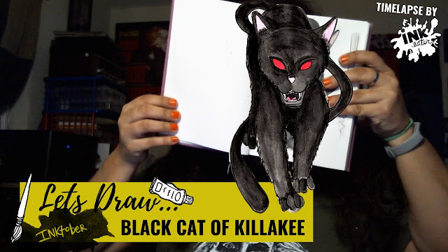 Drawing the Black Cat of Killakee - Exploring Cryptids Worldwide