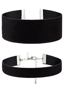czarny choker, biżuteria do czarnej sukienki