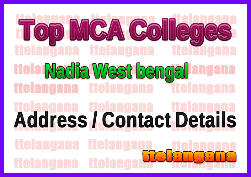 Top MCA Colleges in Nadia West bengal