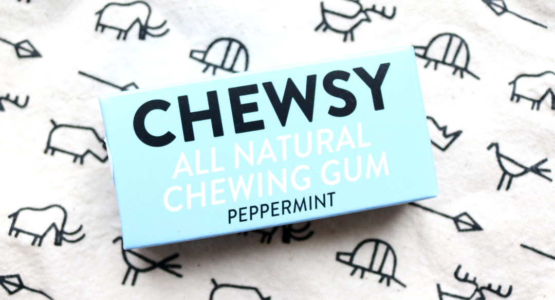 Chewsy All Natural Chewing Gum in Peppermint