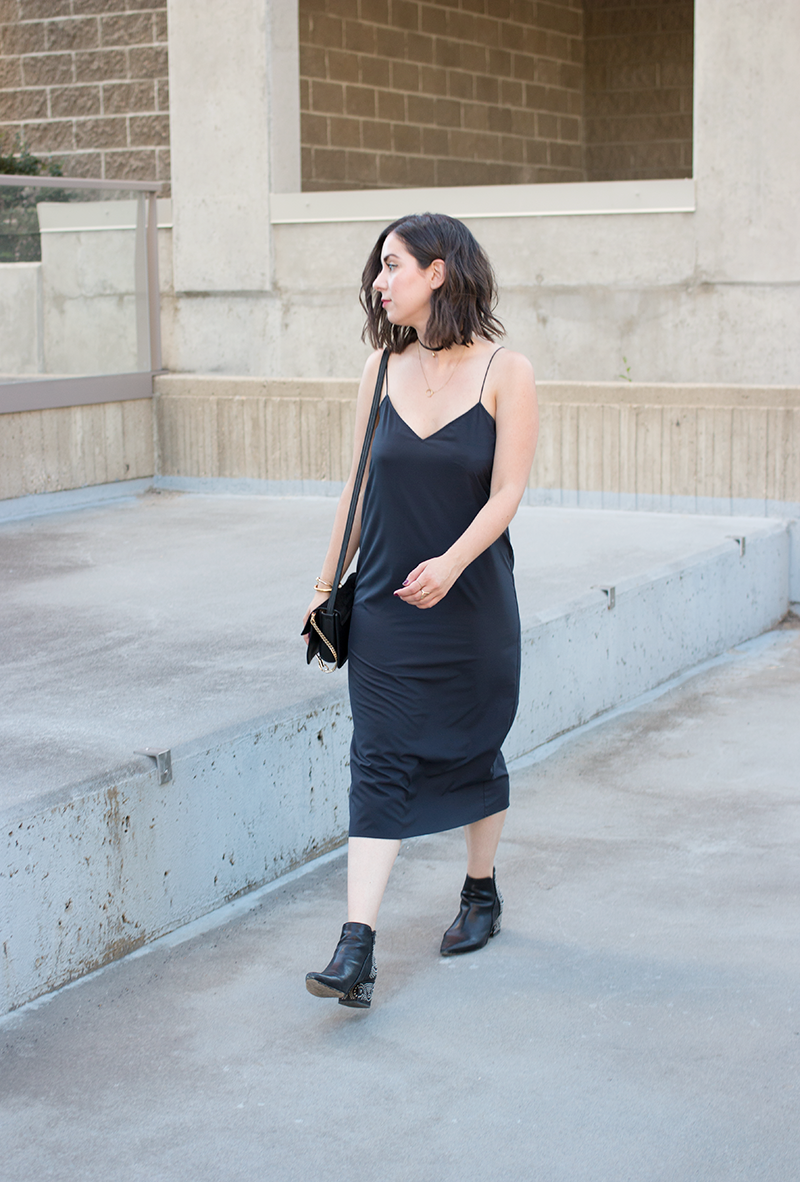 Styling a 90s slip dress