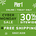 Pier 1 Cyber Monday Sale 30% off sitewide + FREE shipping!