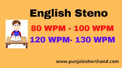 English Steno Dictation 80 WPM to 130 WPM (Exercise-15)